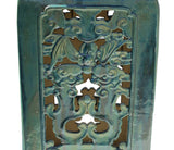 Chinese Ceramic Clay Turquoise Green Square Tall Pedestal Stand vs659S