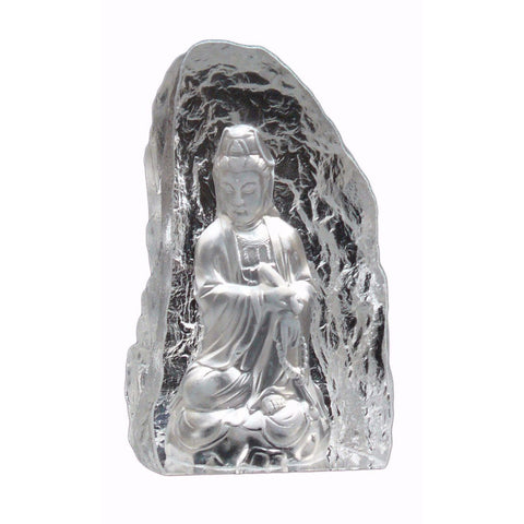 crystal glass Kwan Yin statue