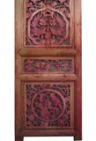 Vintage Chinese Animals Open Carving Wood Panel vs803S