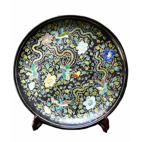 dragon painting porcelain plate