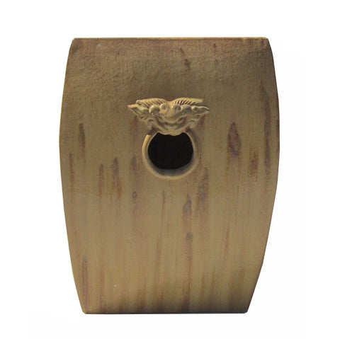 ceramic square stool