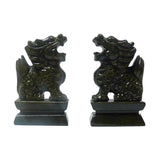 pair green stone foo dog