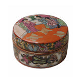 Oriental Porcelain People Scenery Container Box