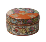 Chinese Oriental Porcelain People Scenery Container Box w209S