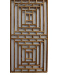 Rectangular Plain Wood Geometric Pattern Wall Panel w225S