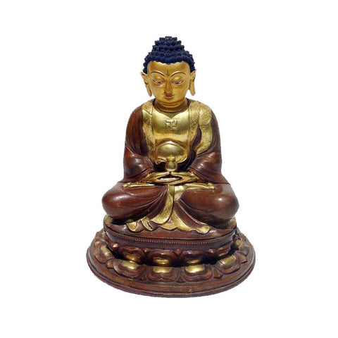 bronze Buddha on lotus base