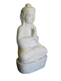 Chinese Antique White Marble Hand Carving Sitting Buddha Statue wk2883s