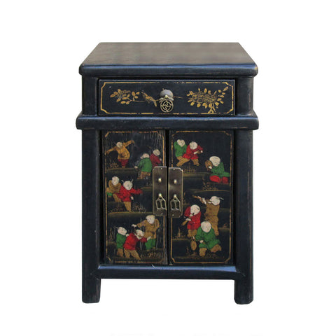 Cao Zhou Antique Happiness KidsNightstand End Table Cabinet wk2945S