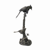 Chinese Rustic Bronze Metal Dimensional Tree Birds Display Figure ws1060S