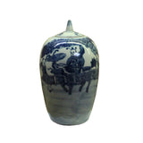temple jar - ginger jar - blue white jar