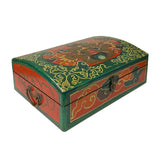 Tibetan Style Dimensional Foo Dog Head Graphic Rectangular Box ws1094S