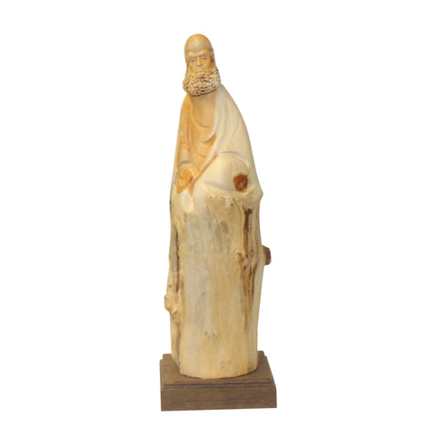 damo - wood figure - cypress wood carving
