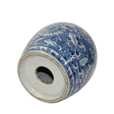 Chinese Blue White Flower Pattern Round Porcelain Stand Display ws1126S