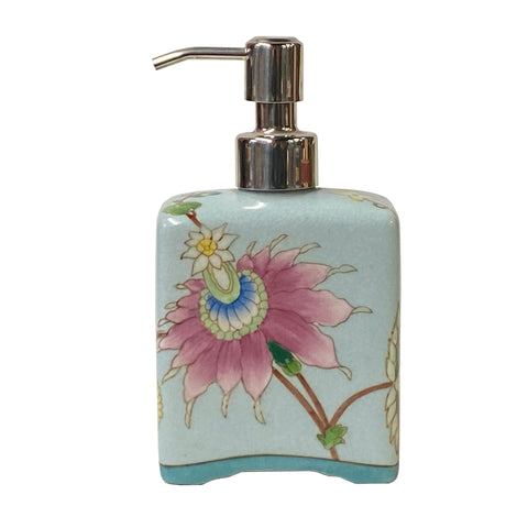 soap dispenser - lotion container - light pastel blue