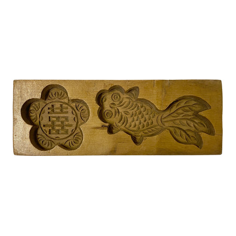cake mold - vintage mooncake wood mold - Chinese wood board