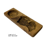 Vintage Wood Flower Fish Cake Maker Mold Board ws1186S