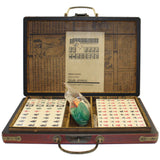 Chinese Handmade Red Vinyl Box Small Mahjong Tiles Set