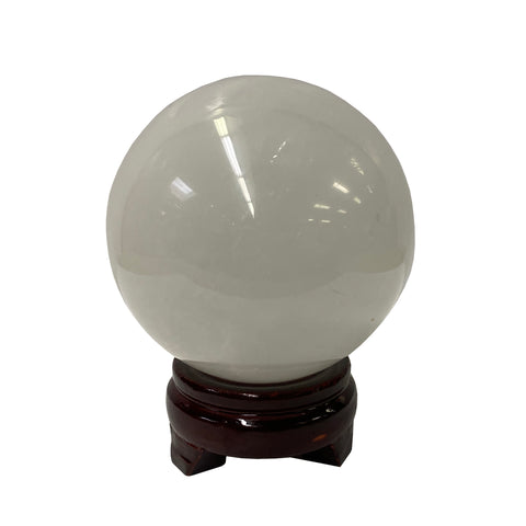 stone ball - round stone display - Fengshui