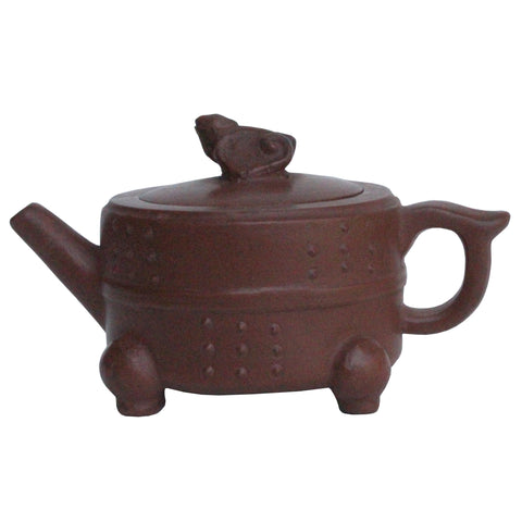 Chinese Handmade Yixing Zisha Clay Teapot With Artistic Accent