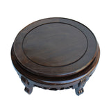 "Chinese Brown Wood Round Table Top Stand Display Easel 12"" ws129BS"