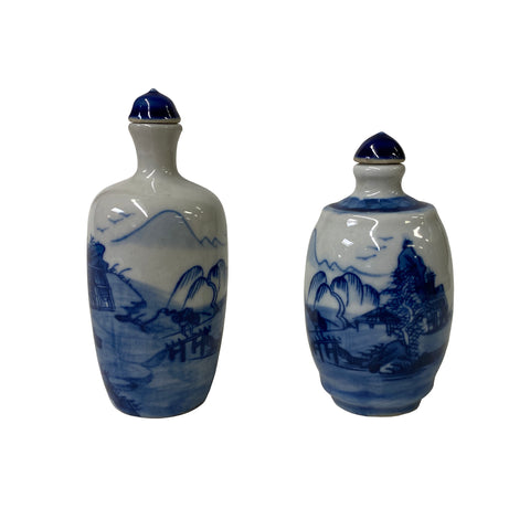 snuff bottle - porcelain bottle - oriental art