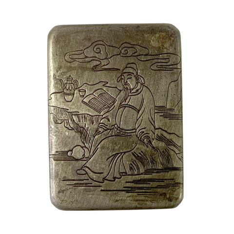 pewter box - nickel box - trinket box