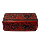 Lacquer Chinoiserie - dragon  - red lacquer box