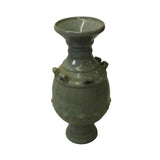 Chinese Ru Ware Light Celadon Green Gray Tone Ceramic Vase ws171S