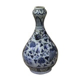 "Chinese Blue White Porcelain Suantouping ""Garlic Head Shape"" Vase ws187S"