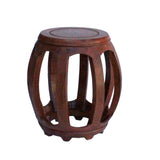 Barrel stool - round wood stool - Chinese stool