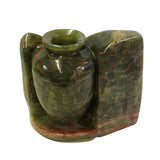 Hand-carved Green Marble Stone Accent Display Vase ws197S