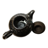 Chinese Handmade Jianye Clay Bronze Black Glaze Decor Teapot Display ws205S