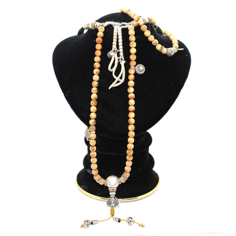 necklace - cypress beads - prayer rosary