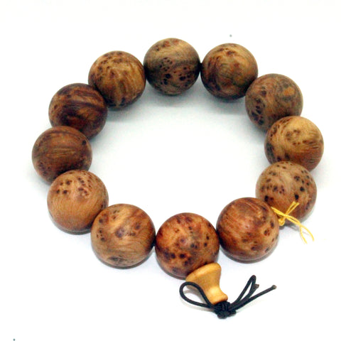 bracelet - cypress wood - prayer beads