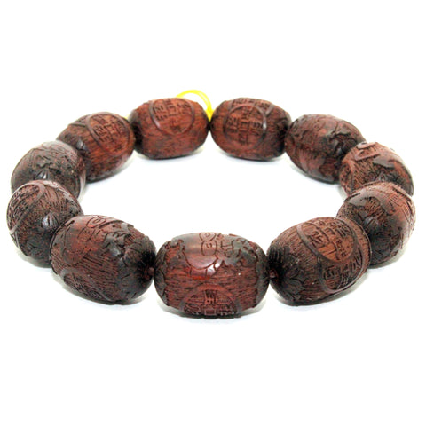 bracelet - Zitan wood - prayer beads
