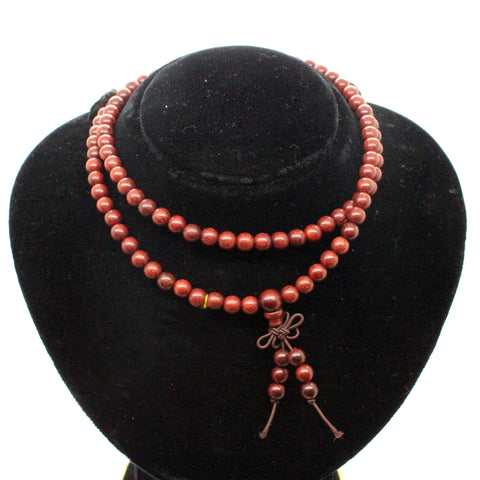 necklace - rosewood beads - prayer rosary