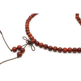 Chinese Yellow Rosewood Beads Rosary Praying Necklace ws222S