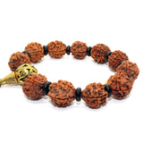 Natural Plant Seed Beads Metal Pendant Rosary Praying Bracelet ws229S