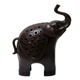 metal elephant - incense holder - bronze elephant