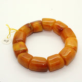 Natural Solid Brown Yellow Mix Amber Beads Hand Rosary Praying Bracelet ws237S