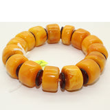 yellow amber bracelet - gemstone - prayer beads
