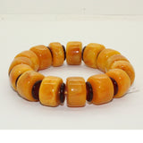 Natural Solid Brown Yellow Mix Amber Beads Hand Rosary Praying Bracelet ws239S