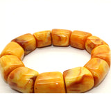 Natural Solid Brown Yellow Mix Amber Beads Hand Rosary Praying Bracelet ws240S