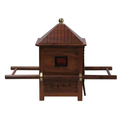 Chinese Rosewood Handmade Miniature Litter Sedan Chair Display Decor ws262S