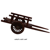 Chinese Wood Single Wheel Farm Hand Cart Miniature Display Art ws265S