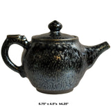 Chinese Handmade Jianye Clay Bronze Black Glaze Decor Teapot Display ws270S