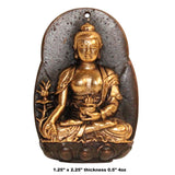 Chinese Handmade Metal Sitting Buddha Pendant Display ws303S