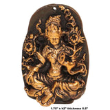 Chinese Handmade Metal Sitting  Lotus Tara Pendant Display ws305S