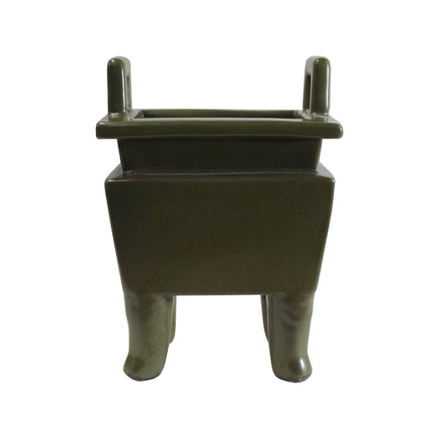 incense holder - ding - oriental clay urn