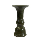 olive green vase - ceramic vase- small vase